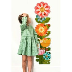 NWT Girls Flower Growth Chart Shower Gift